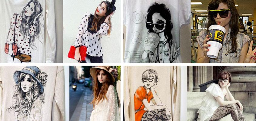 Plagio by Zara. Fotografías de blogueras en camisetas Inditex