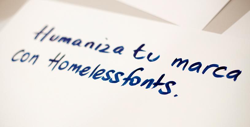 HOY ES EL DÍA - Homeless fonts. Tipografías para salir de la calle