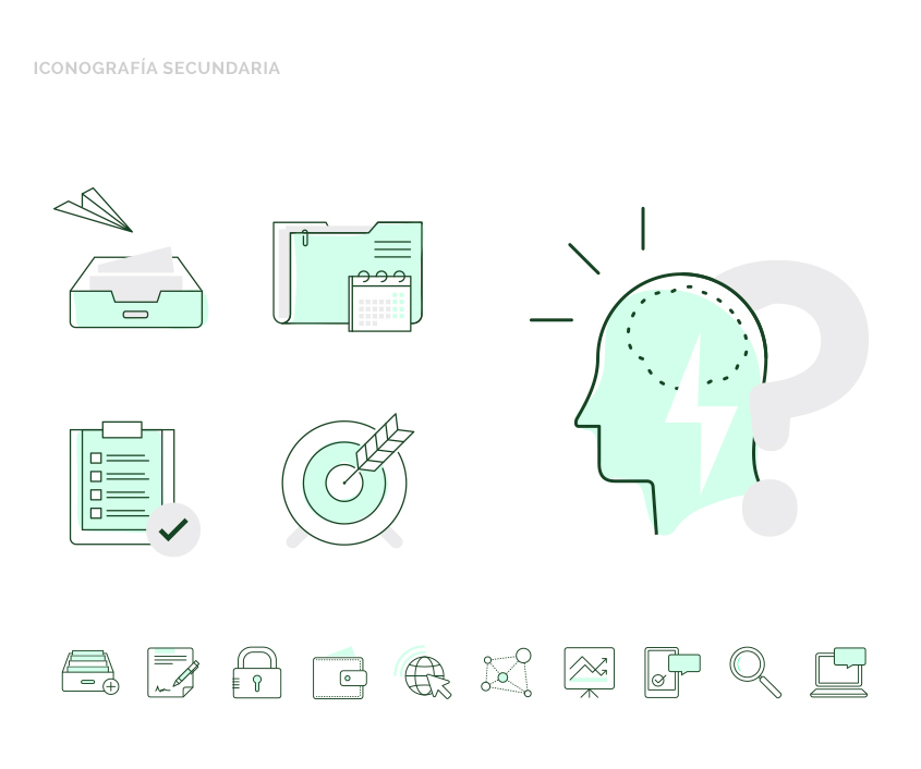 Diseño de iconografía secundaria para FacileThings