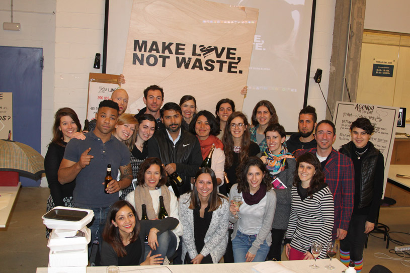Grupo de participantes en Make Love Not Waste