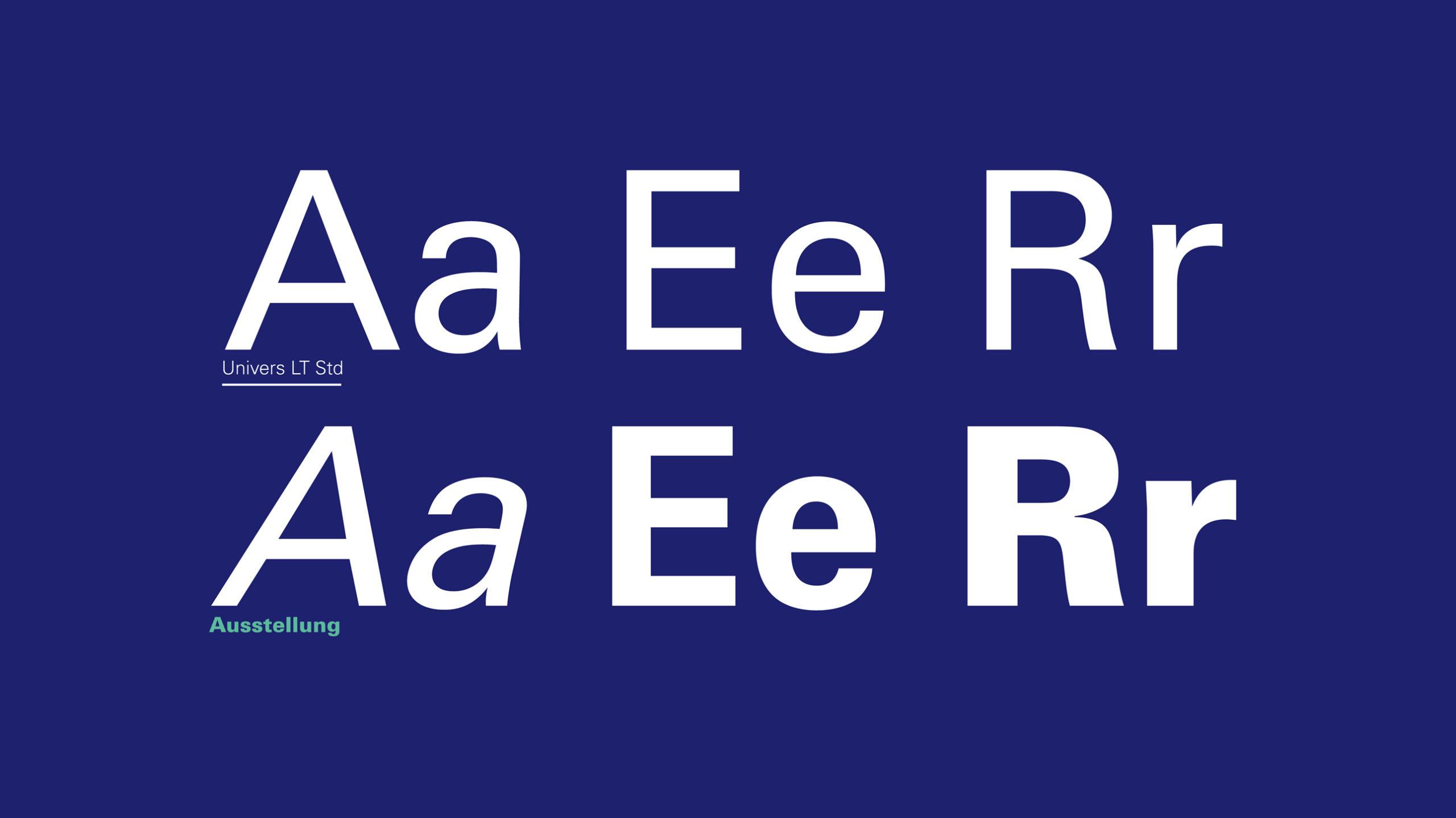 Tipografía corporativa Uner