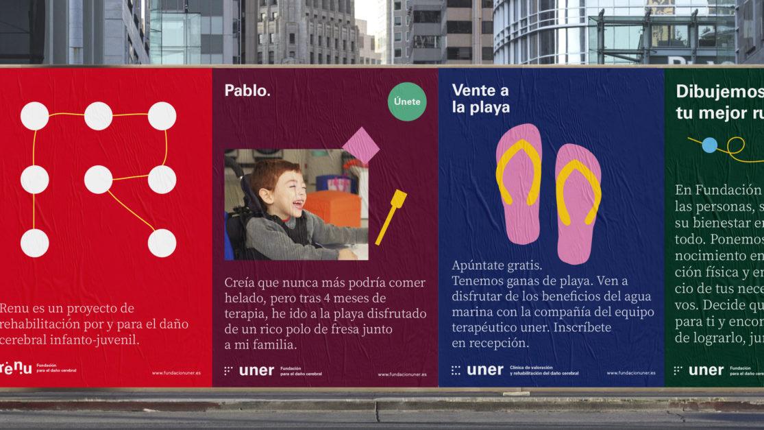 Diseño gráfico de carteles para Uner